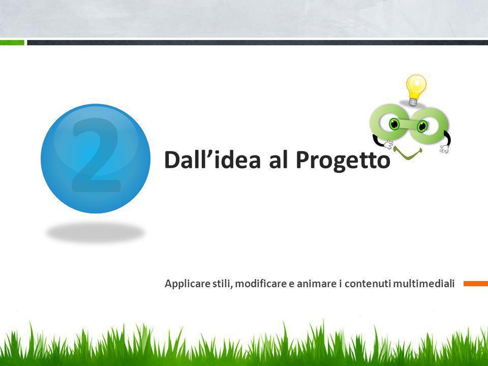 2 Dall'idea al Progetto Applicare stili, modificare e animare i contenuti multimediali