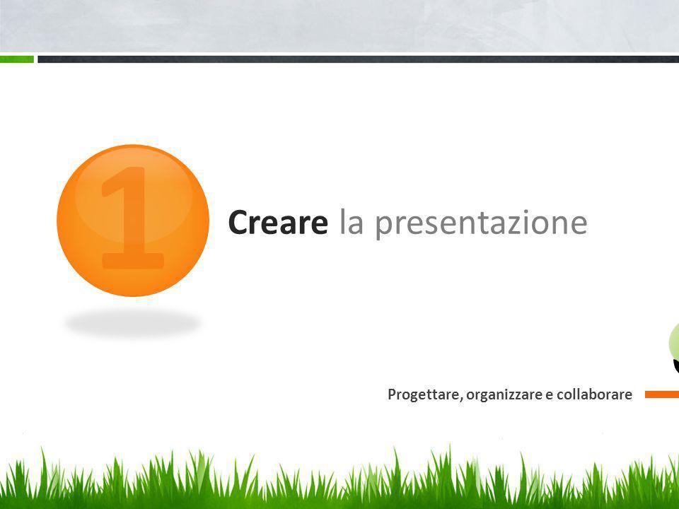 Creare la presentazione