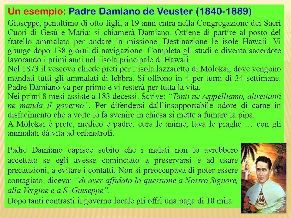 Un esempio: Padre Damiano de Veuster (1840-1889)