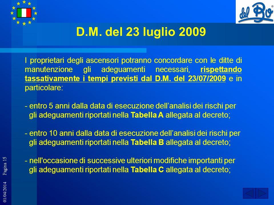 D.M. del 23 luglio 2009