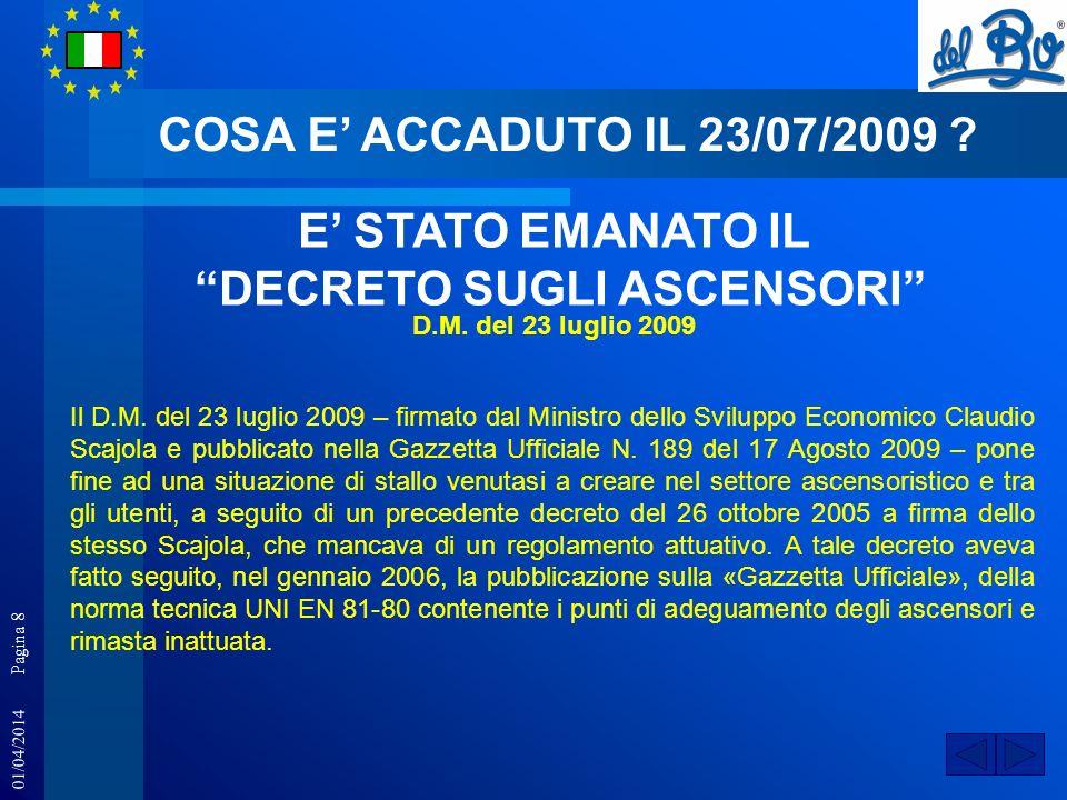 DECRETO SUGLI ASCENSORI