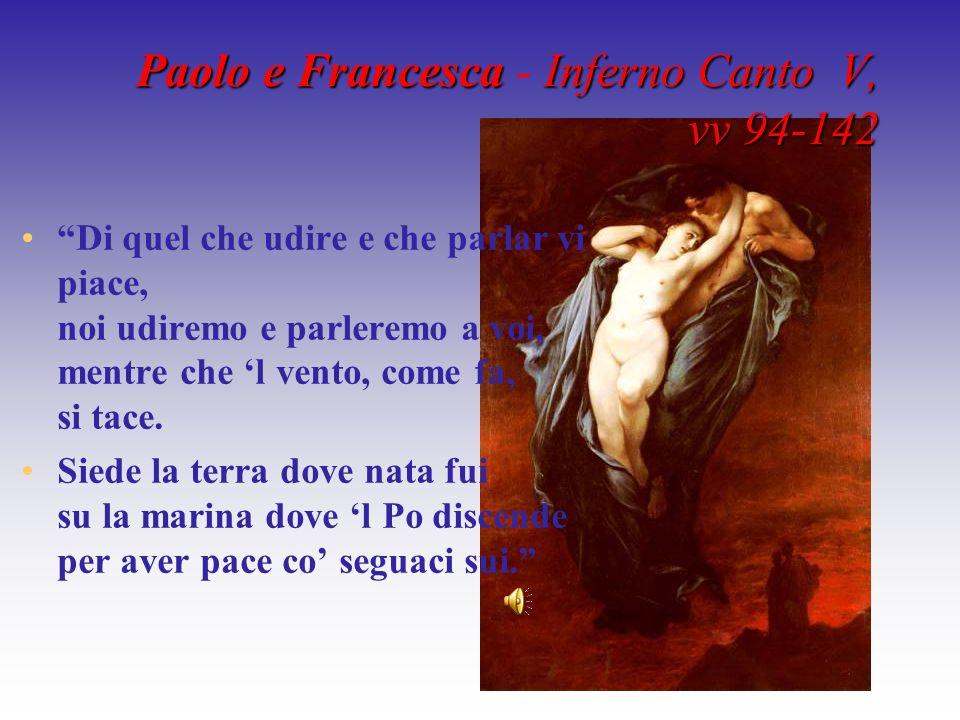 Paolo e Francesca - Inferno Canto V, vv 94-142