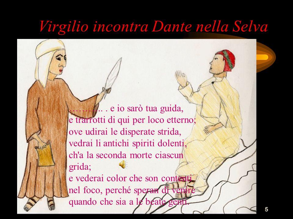 Virgilio incontra Dante nella Selva