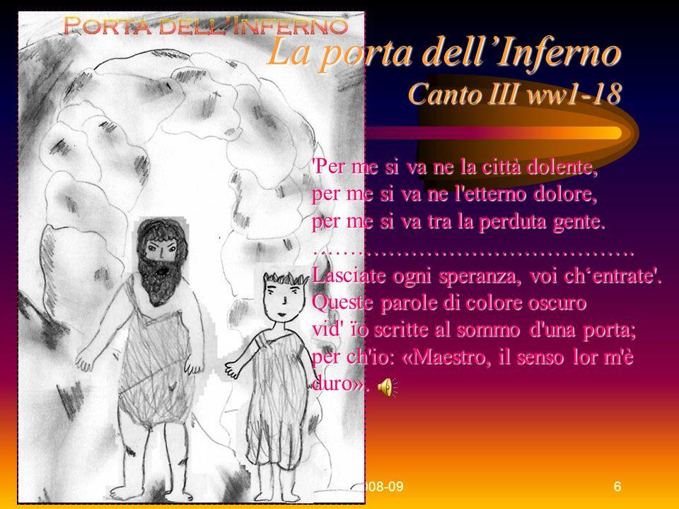 La porta dell'Inferno Canto III ww1-18