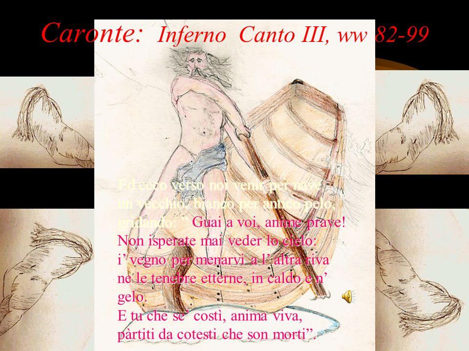 Caronte: Inferno Canto III, ww 82-99