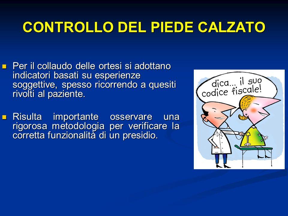 CONTROLLO DEL PIEDE CALZATO