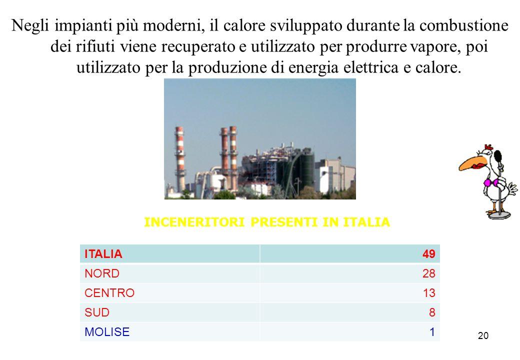 INCENERITORI PRESENTI IN ITALIA