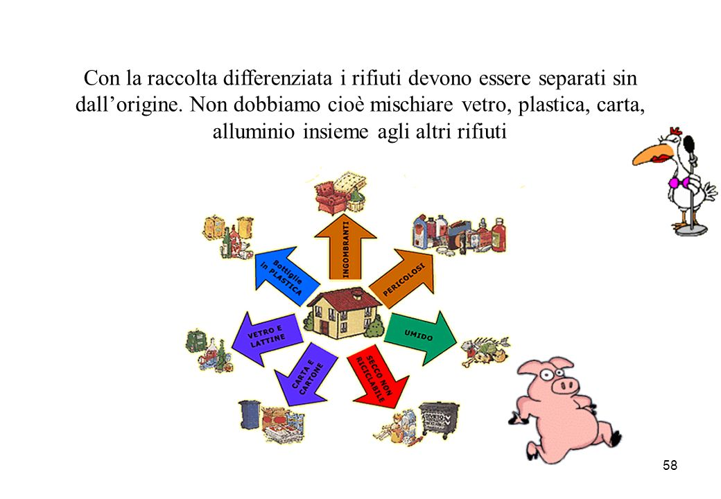 Con la raccolta differenziata i rifiuti devono essere separati sin dall'origine.