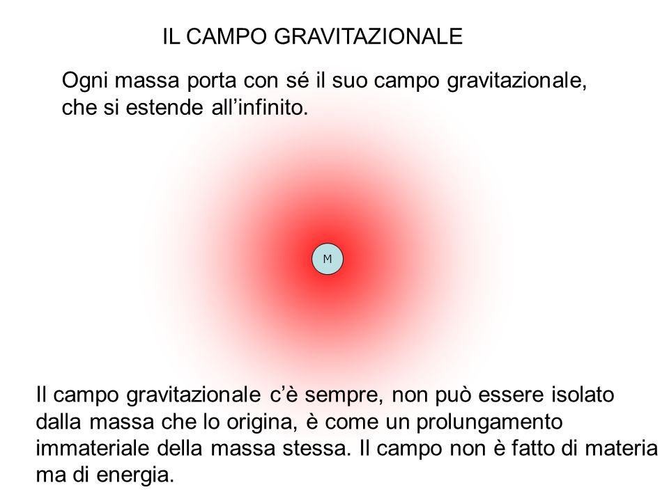 IL CAMPO GRAVITAZIONALE
