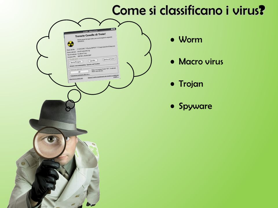 Come si classificano i virus