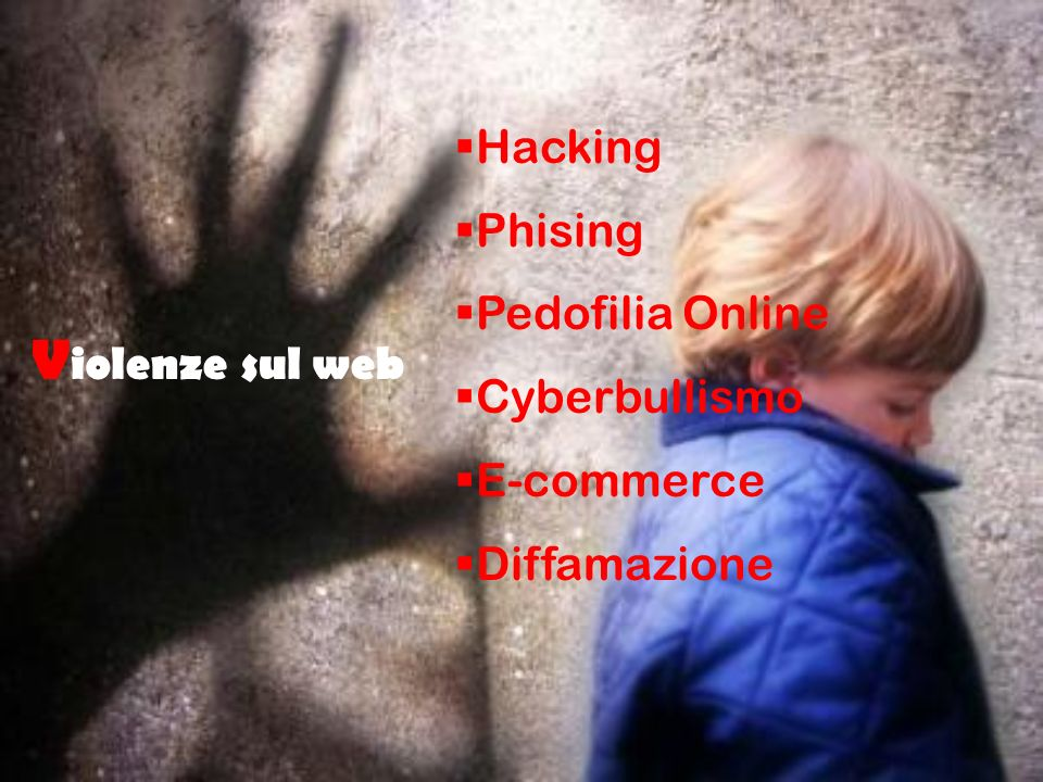 Violenze sul web Hacking Phising Pedofilia Online Cyberbullismo