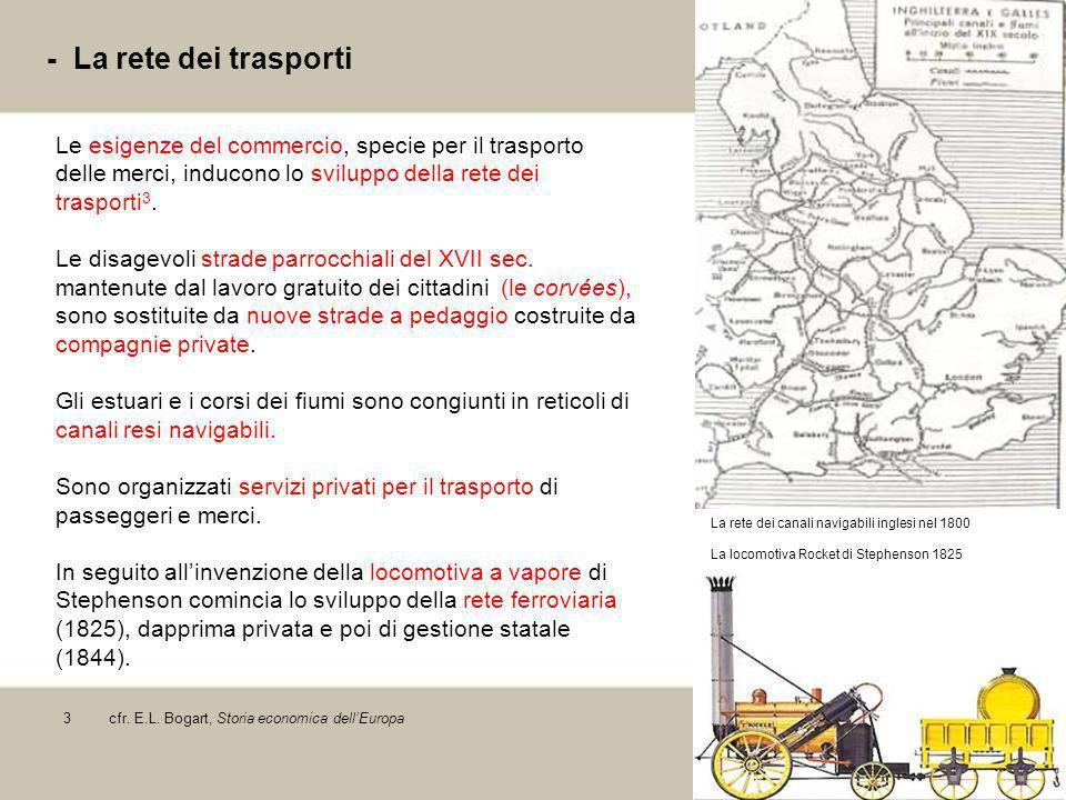 - La rete dei trasporti Le esigenze del commercio, specie per il trasporto delle merci, inducono lo sviluppo della rete dei trasporti3.