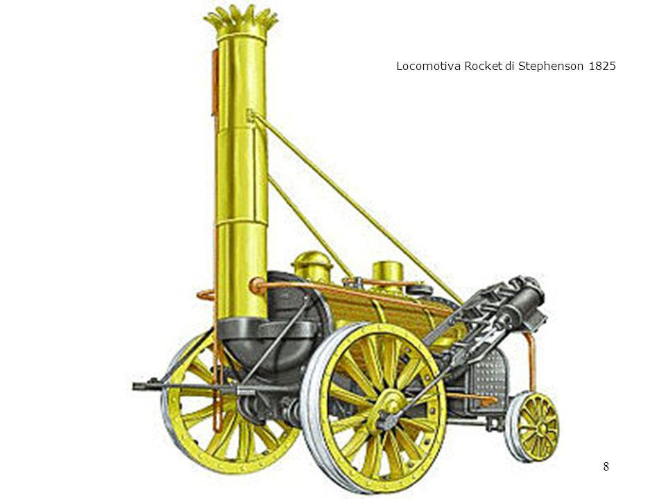 - rocket Locomotiva Rocket di Stephenson 1825