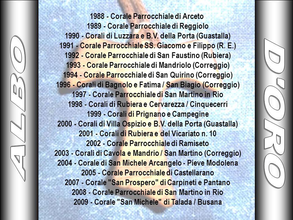 ALBO D ORO 1988 - Corale Parrocchiale di Arceto