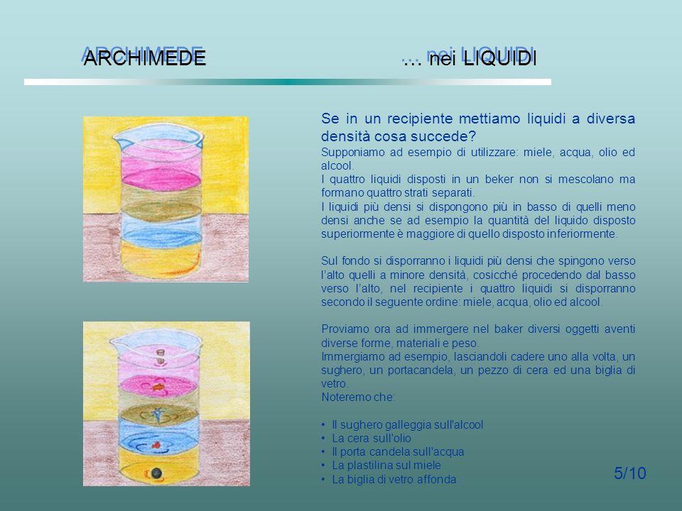 ARCHIMEDE … nei LIQUIDI 5/10