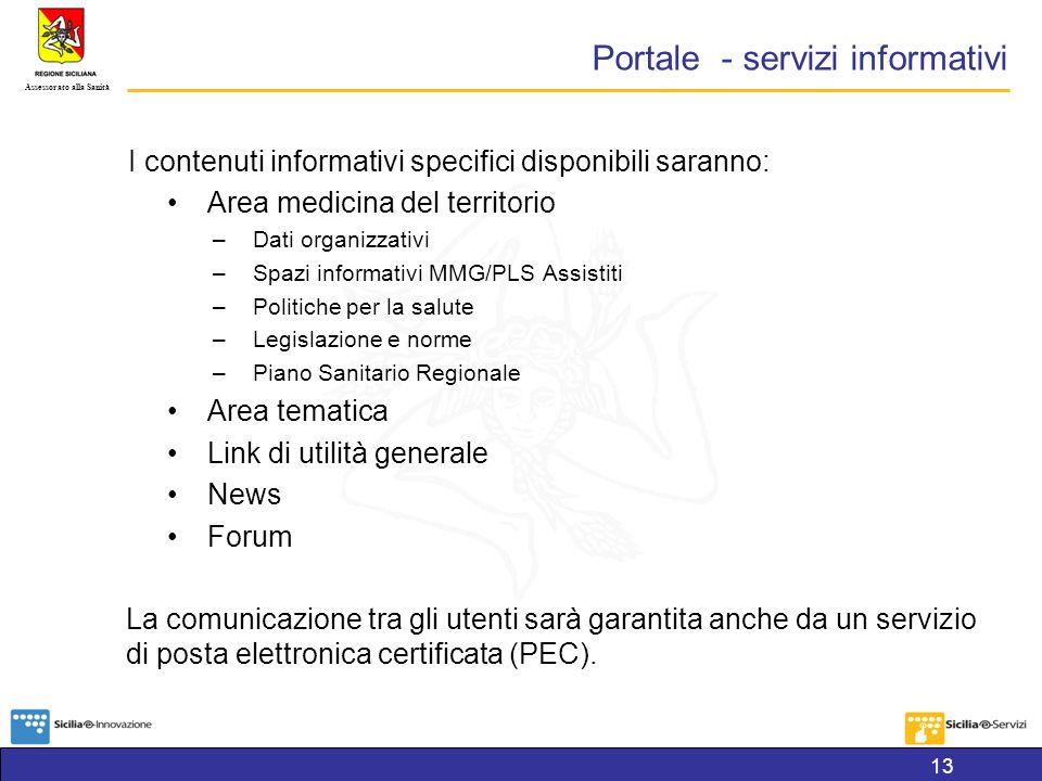 Portale - servizi informativi