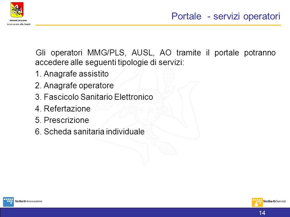 Portale - servizi operatori