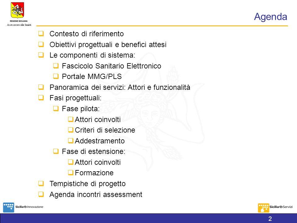 Agenda Contesto di riferimento Obiettivi progettuali e benefici attesi