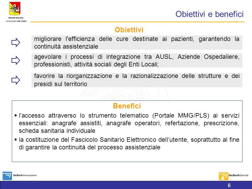 Obiettivi e benefici Obiettivi Benefici