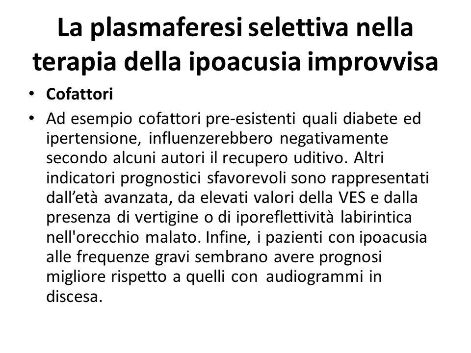La plasmaferesi selettiva nella terapia della ipoacusia improvvisa