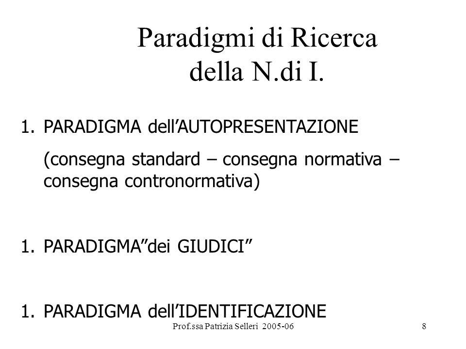 Paradigmi di Ricerca della N.di I.