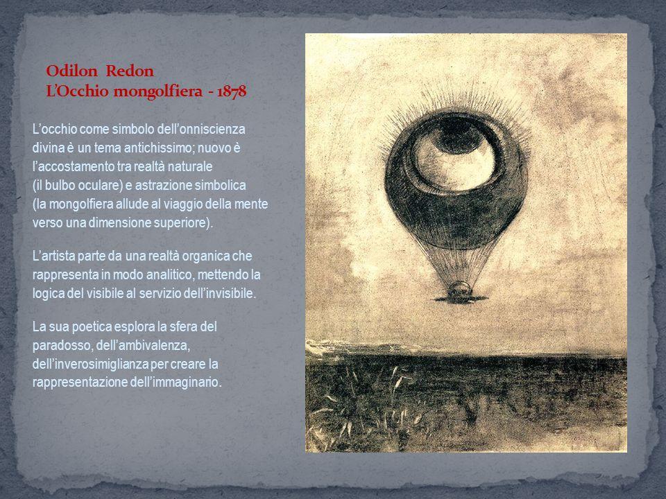 Odilon Redon L'Occhio mongolfiera - 1878