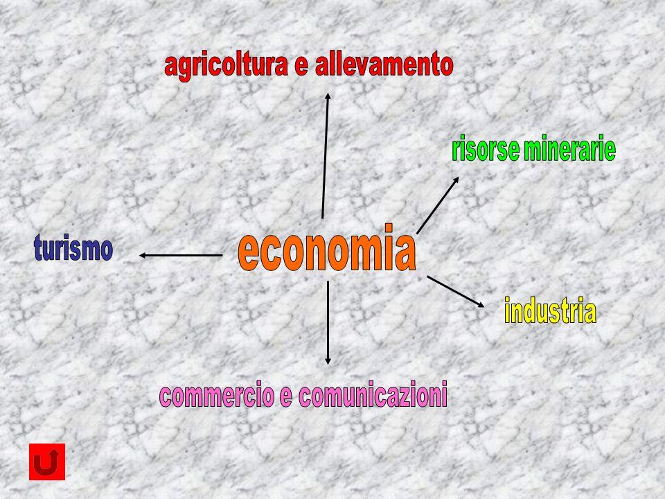 economia agricoltura e allevamento risorse minerarie turismo industria