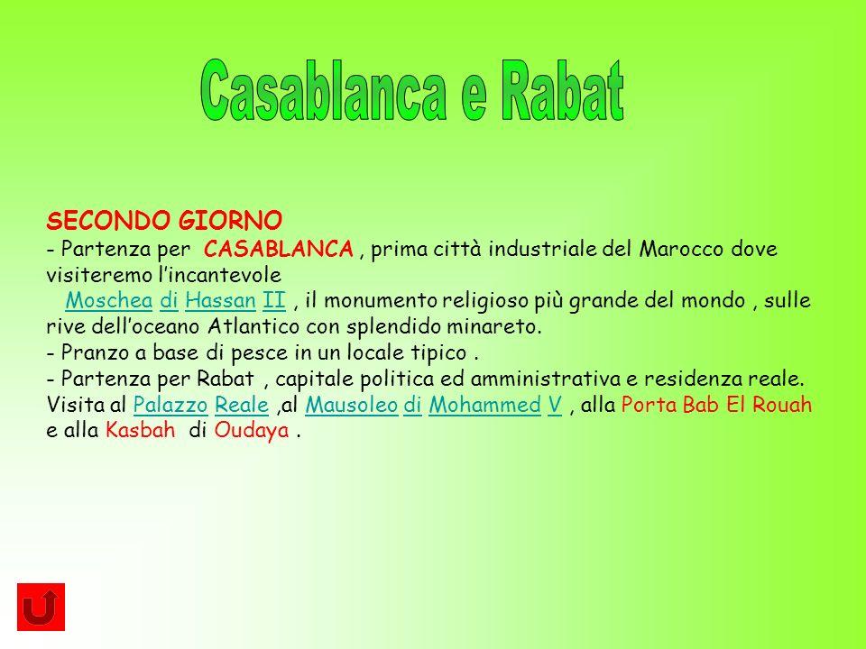 Casablanca e Rabat SECONDO GIORNO
