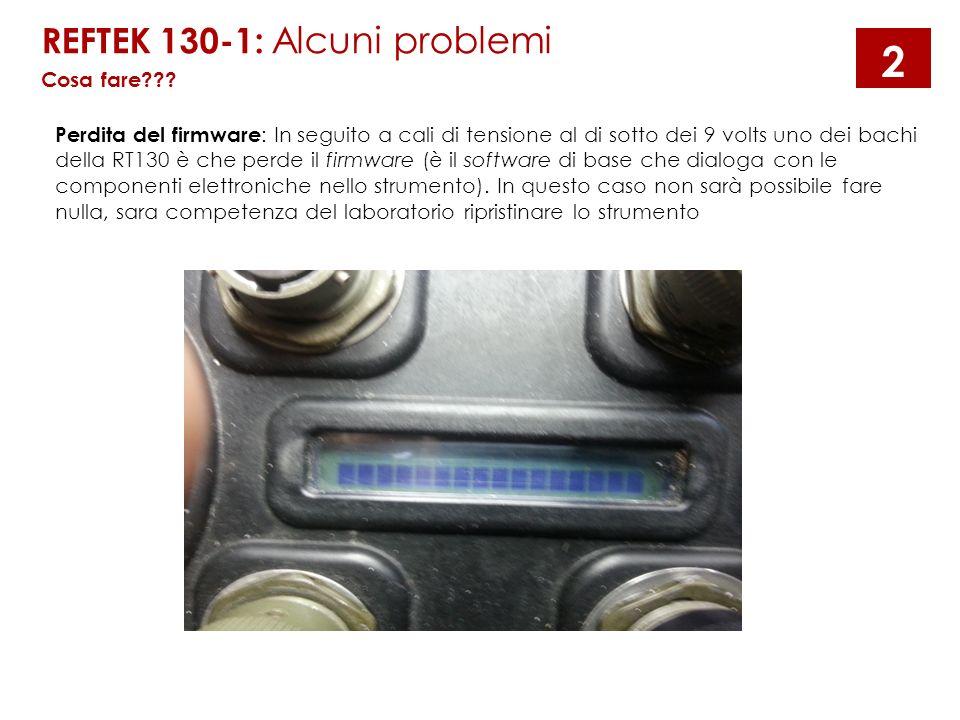 2 REFTEK 130-1: Alcuni problemi Cosa fare