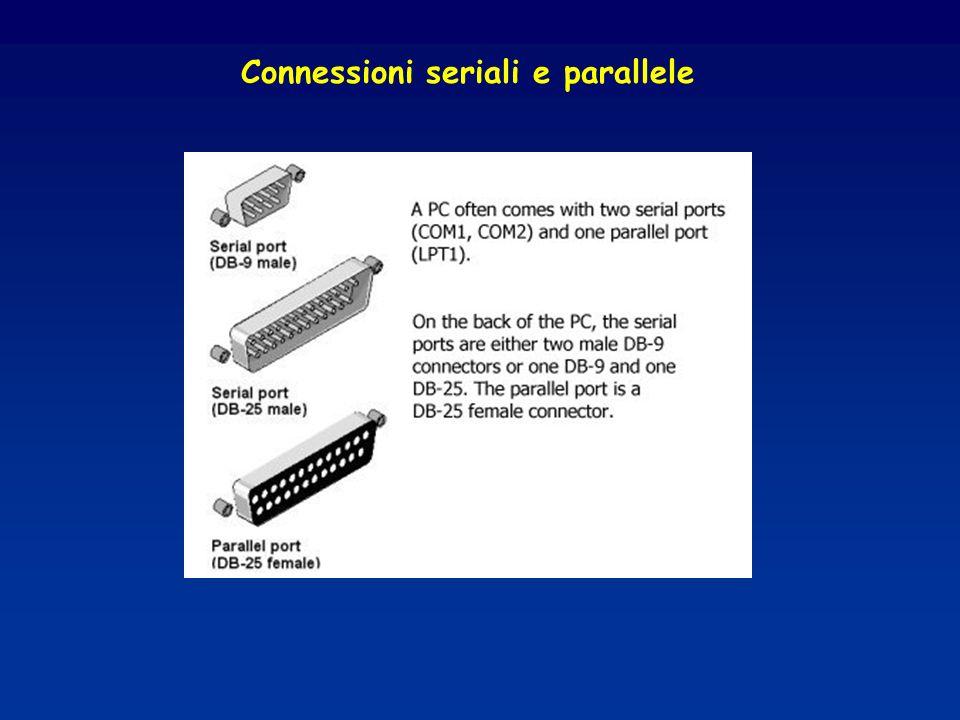 Connessioni seriali e parallele