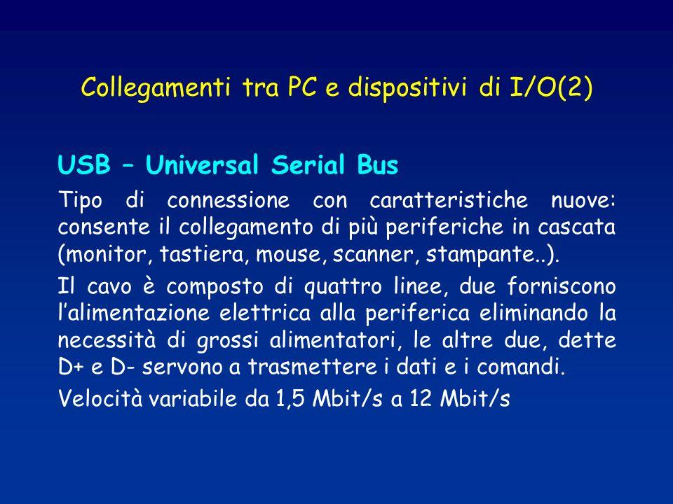 Collegamenti tra PC e dispositivi di I/O(2)