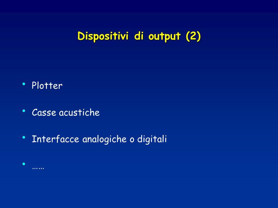 Dispositivi di output (2)