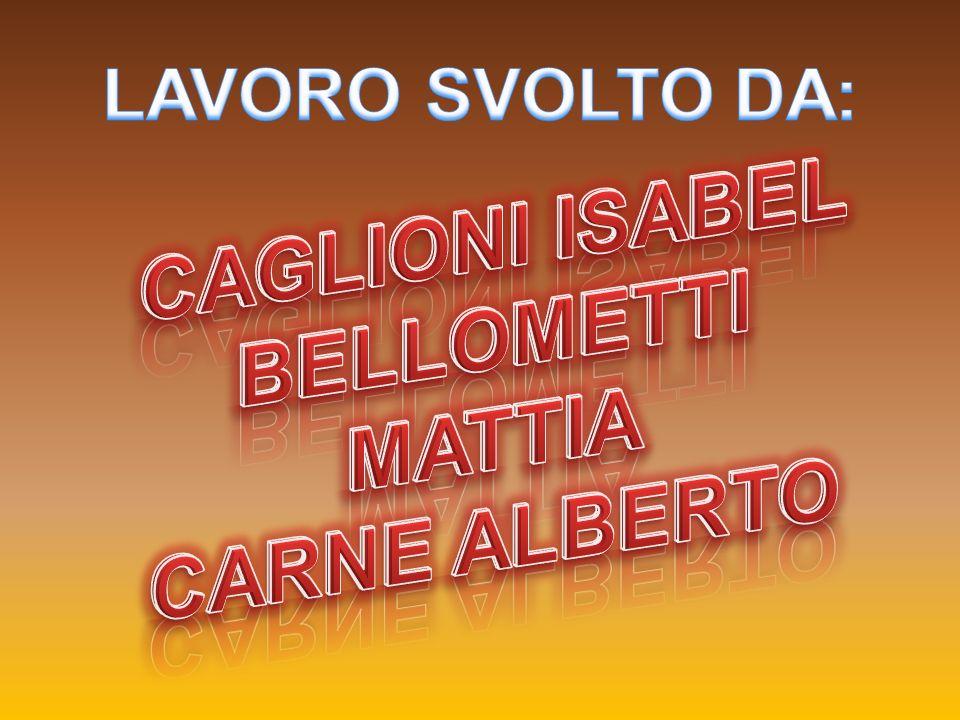 CAGLIONI ISABEL BELLOMETTI MATTIA CARNE ALBERTO