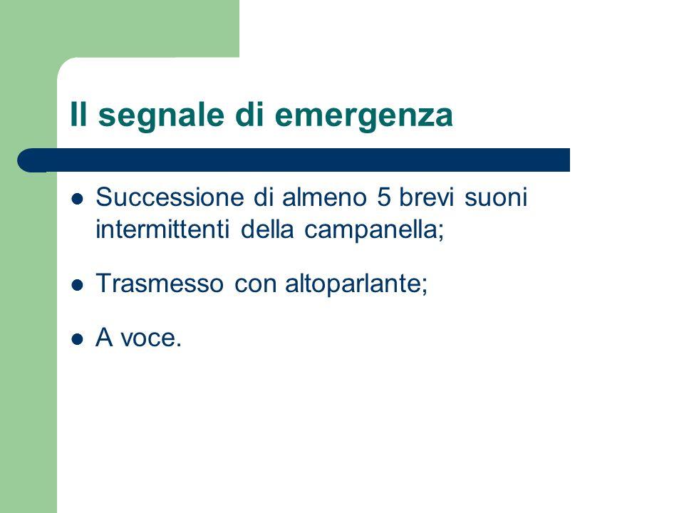 Il segnale di emergenza