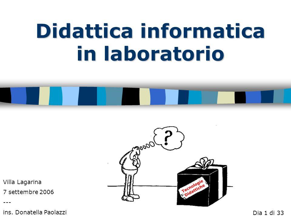 Didattica informatica in laboratorio