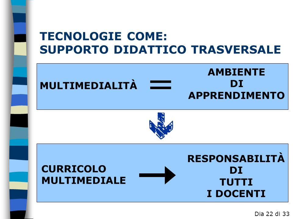 TECNOLOGIE COME: SUPPORTO DIDATTICO TRASVERSALE