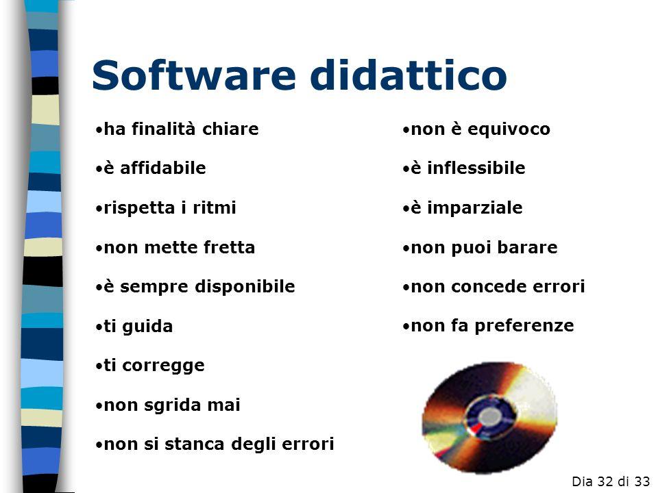 Software didattico ha finalità chiare è affidabile rispetta i ritmi