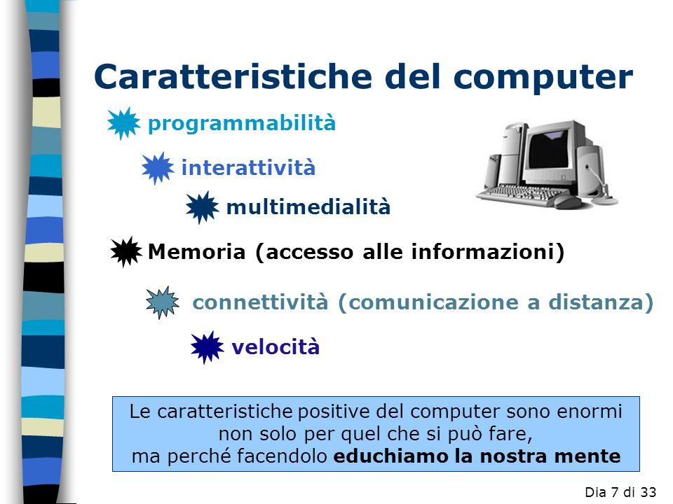 Caratteristiche del computer