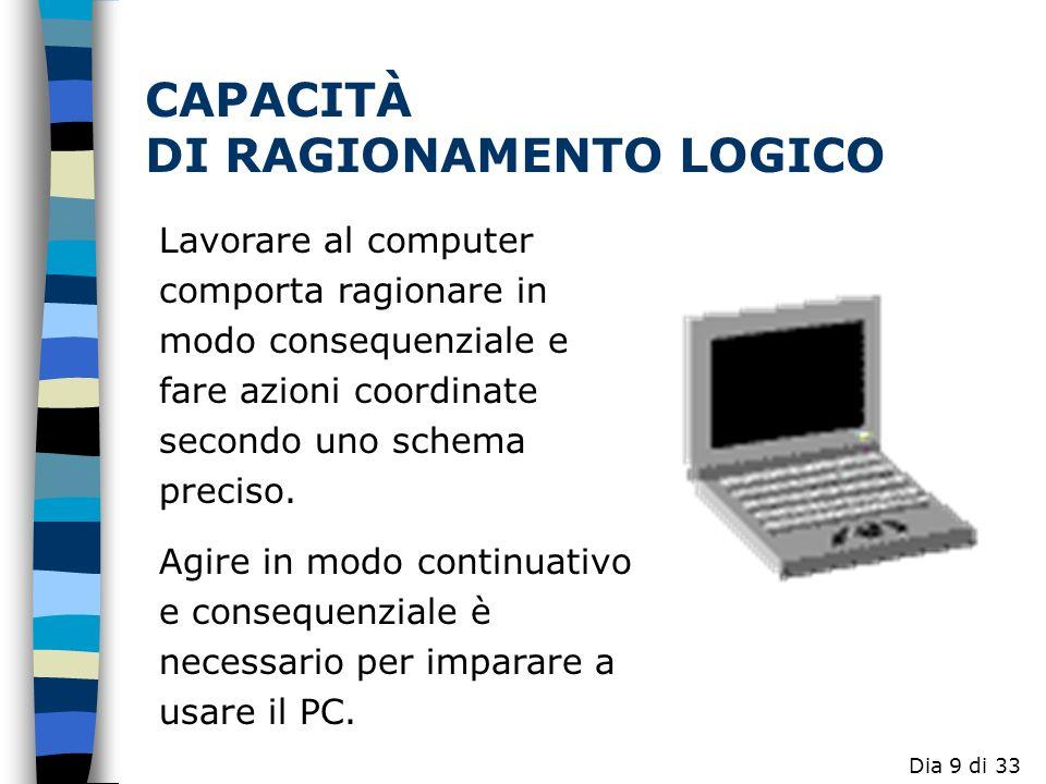 CAPACITÀ DI RAGIONAMENTO LOGICO