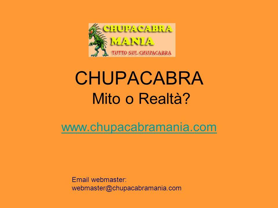CHUPACABRA Mito o Realtà