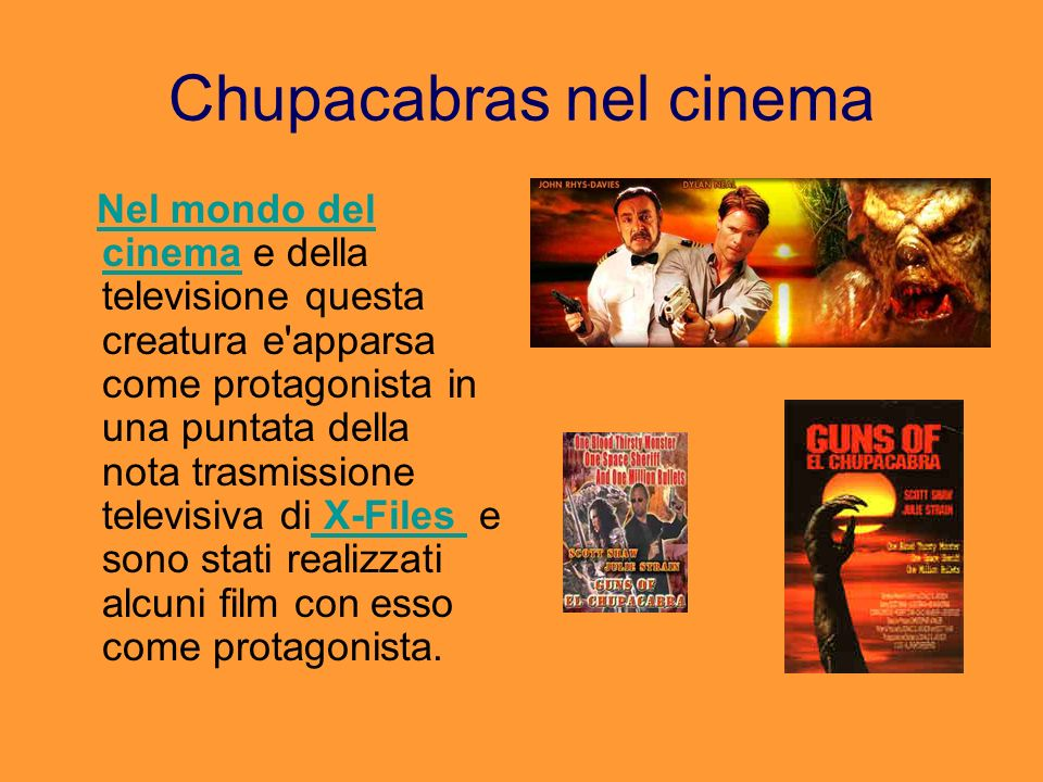Chupacabras nel cinema