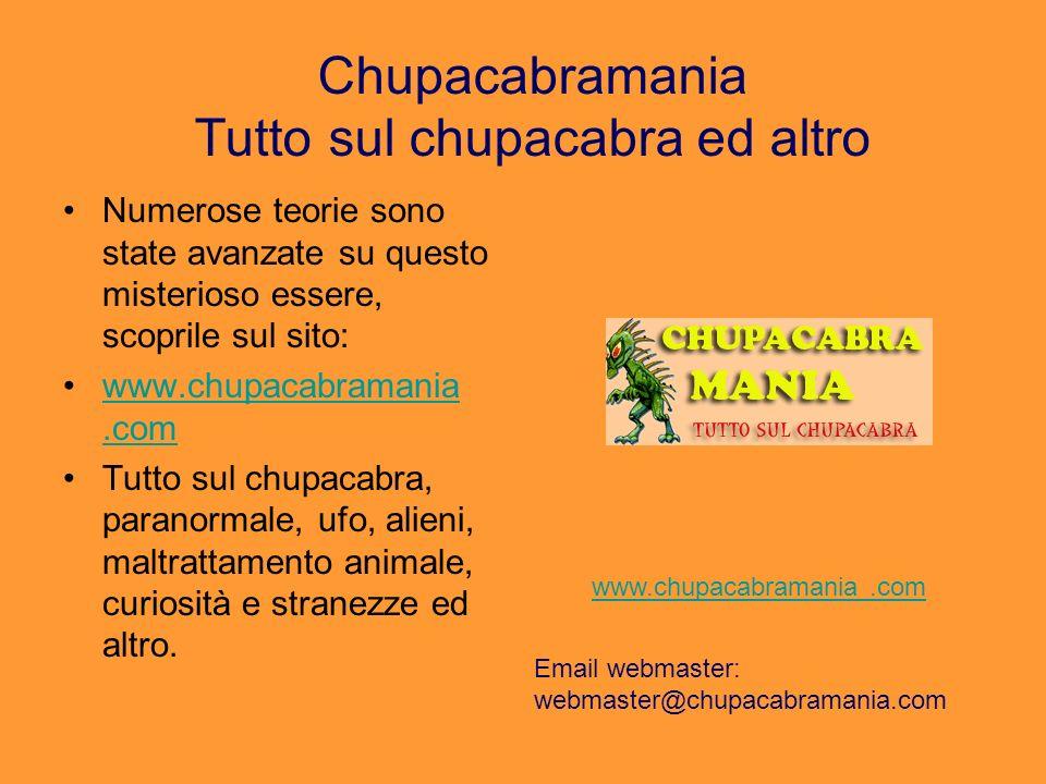 Chupacabramania Tutto sul chupacabra ed altro