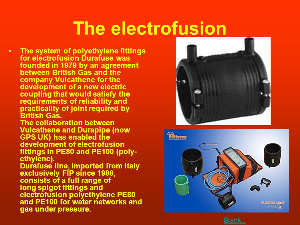 The electrofusion
