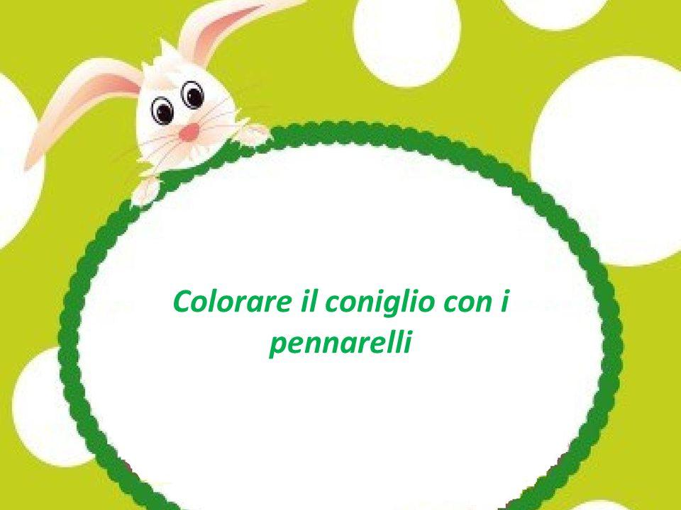 Colorare il coniglio con i pennarelli