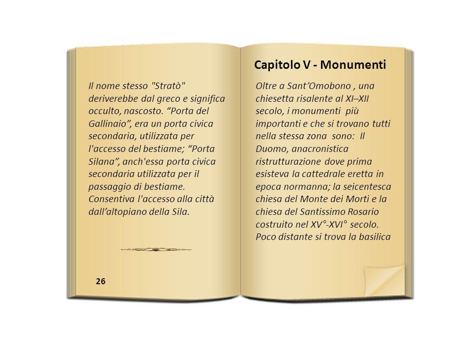 Capitolo V - Monumenti