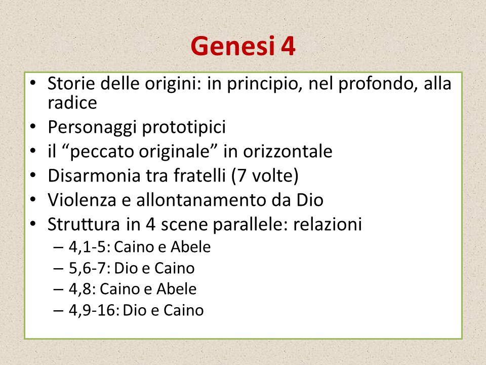 Genesi 4 Storie delle origini: in principio, nel profondo, alla radice