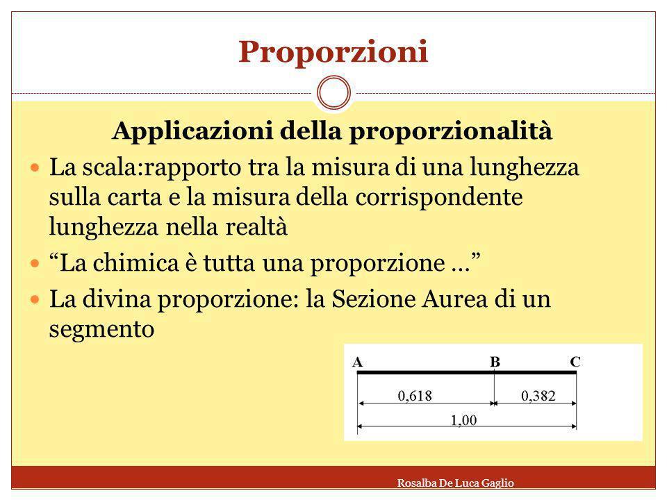 Applicazioni della proporzionalità