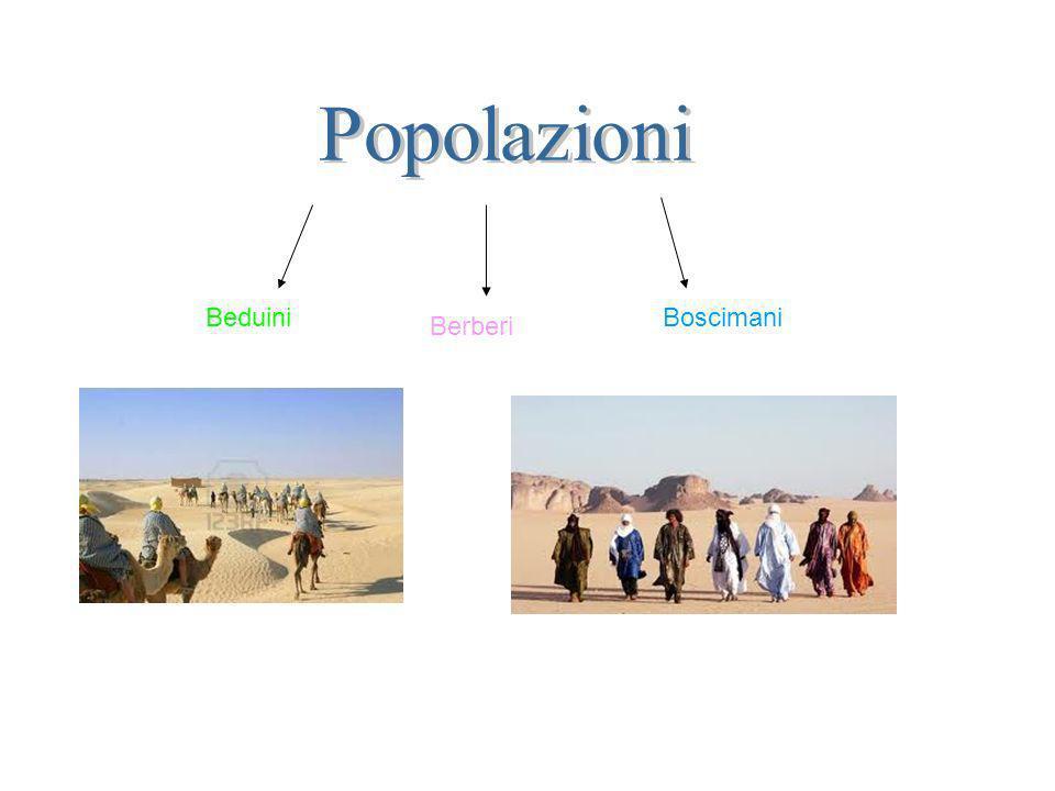 Popolazioni Beduini Boscimani Berberi