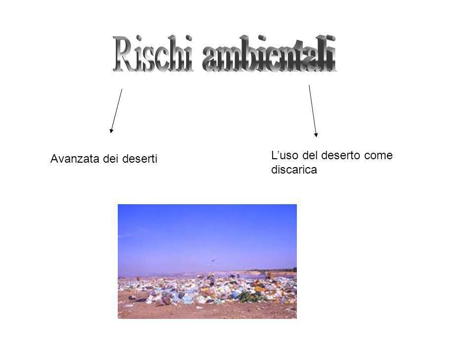 Rischi ambientali L'uso del deserto come Avanzata dei deserti