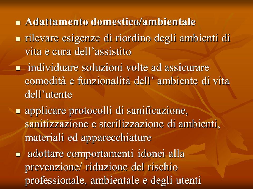 Adattamento domestico/ambientale